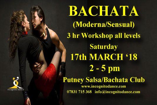 BACHATA MODERNA AND SENSUAL STYLE WORKSHOP AT PUTNEY SALSA/BACHATA CLUB.