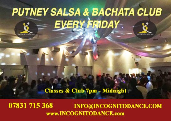 Fridays At The Putney Salsa Amp Bachata Club 171 Incognito Dance